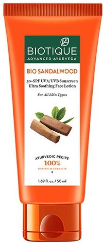Biotique Bio Sandalwood Face & Body Lotion - SPF 50 PA+(50 ml)