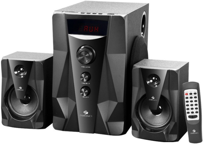 Zebronics OMEGA 40 W Bluetooth Home Audio Speaker 40 W Bluetooth Home Theatre(Black, 2.1 Channel)