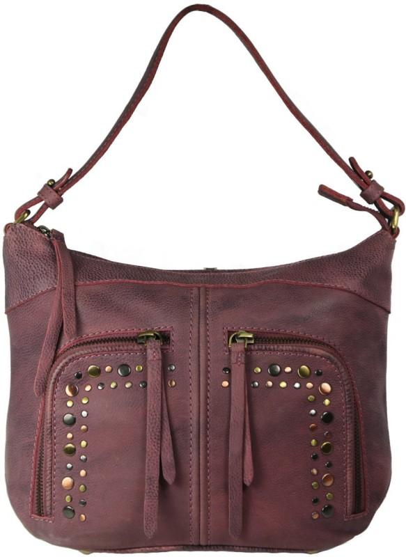 Leatherman Fashion Burnish Wash Pink Leather Handbag Messenger Bag(Pink, 2 L)