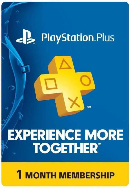 Playstation Plus 1 Month Membership PS 4(Direct Install(Code in the Box - for PS4)