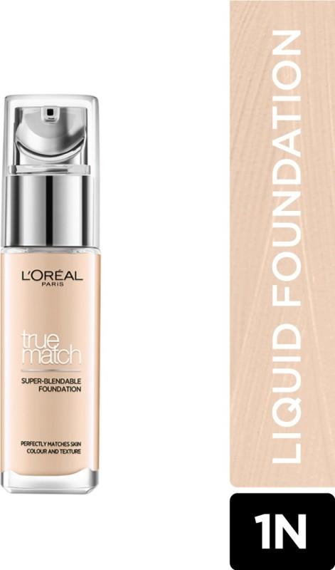 L'Oreal Paris True Match Super Blendable Liquid Foundation(Ivory 1N, 30 ml)
