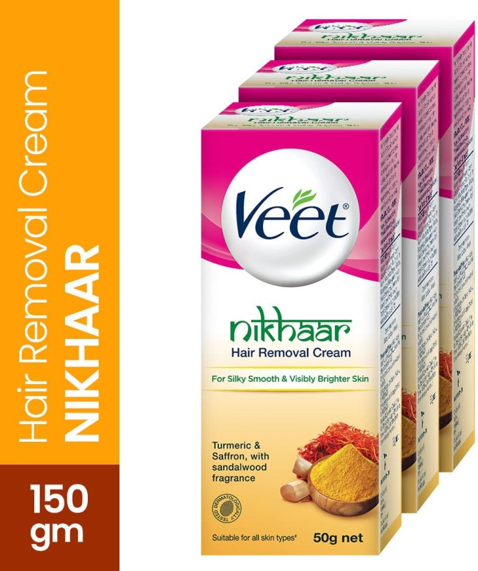 Veet Nikhaar Hair Removal Cream(150 g, Set of 3)