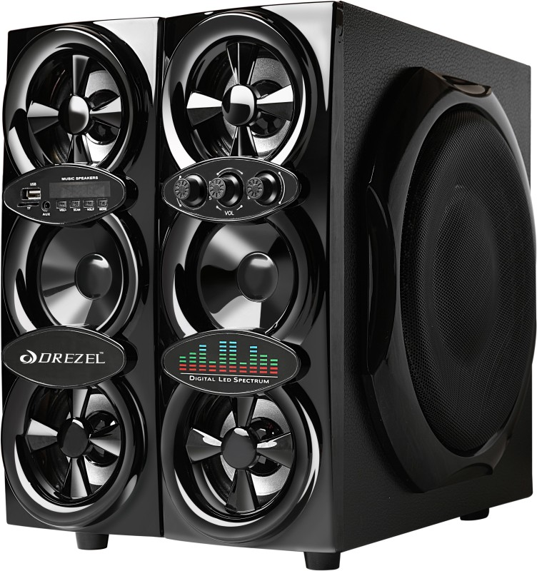 Drezel Tower Speaker (Bluetooth, USB, AUX, SD Card, FM/AM Radio) Bluetooth Tower Speaker(Black, 4.1 Channel)