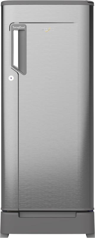 Whirlpool 190 L Direct Cool Single Door 5 Star (2019) Refrigerator with Base Drawer(Magnum Steel, 205 IMPC ROY 5s MAGNUM STEEL-E/205 IMPWCL ROY 5S MAGNUM STEEL-E)