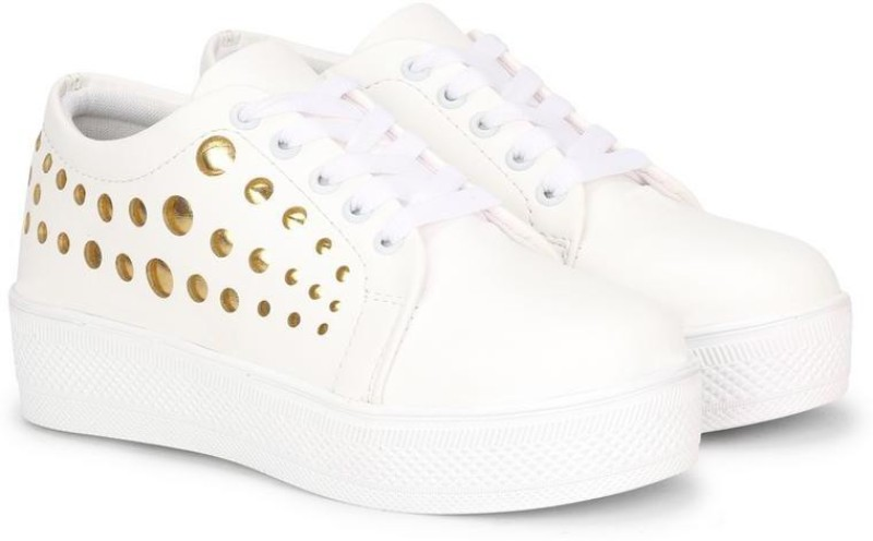 Denill Sneakers For Women And Girls Sneakers For Women(White)
