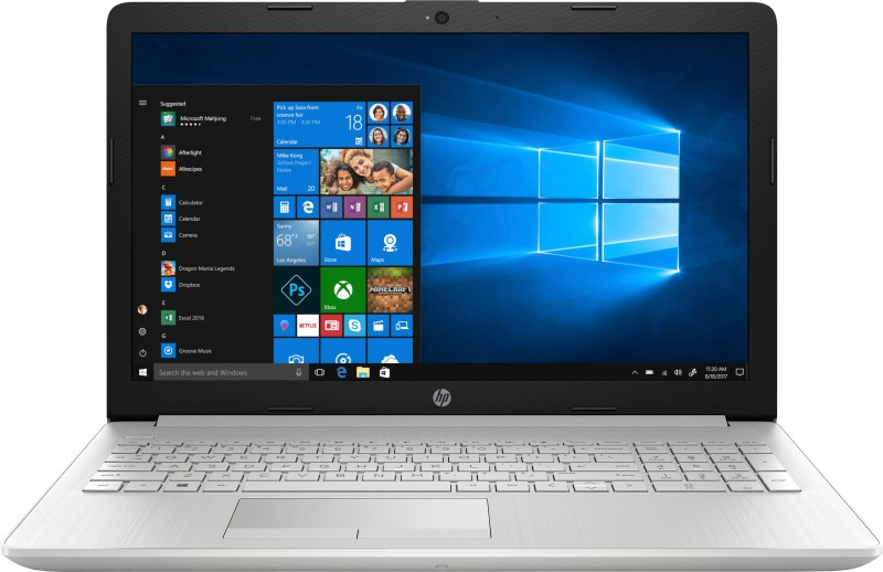 HP 15 Core i3 7th Gen - (8 GB/1 TB HDD/Windows 10 Home) 15-da0388TU Laptop(15.6 inch, Natural Silver, 2.18 kg, With MS Office)