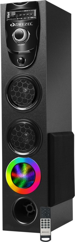 Drezel SMASH Hi Fi Dj 500 W with one5.25 woofer and 25000 PMPO Multimedia Bluetooth Tower Speaker Bluetooth Tower Speaker(Black, 2.1 Channel)