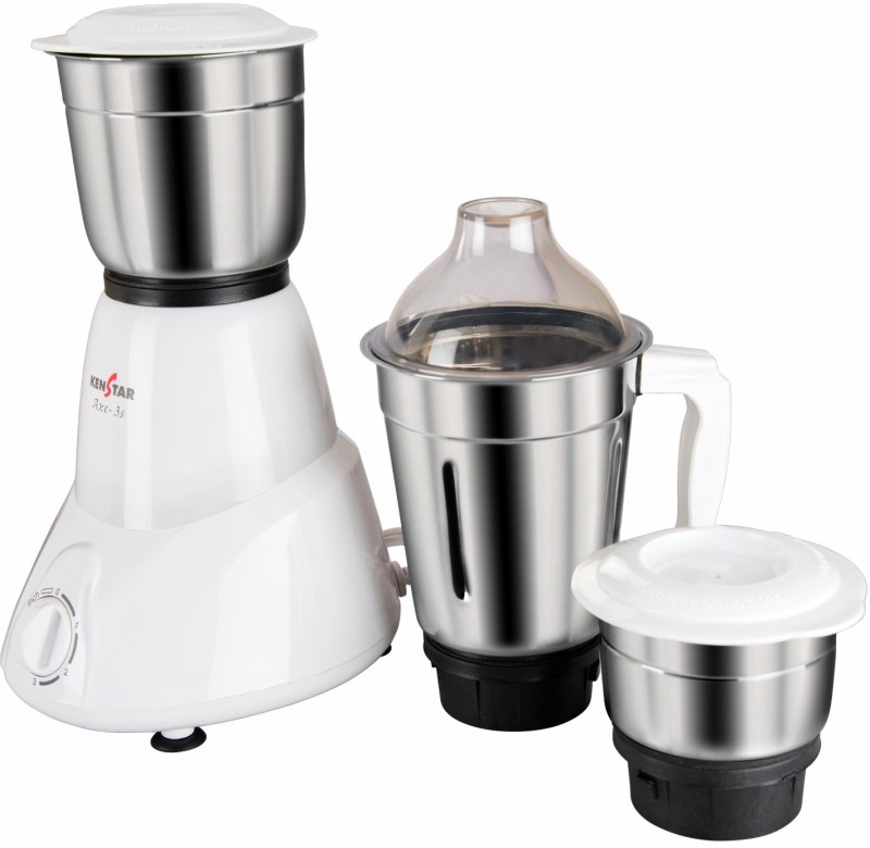 Kenstar DX Axe - 3s 450 W Mixer Grinder(White, 3 Jars)