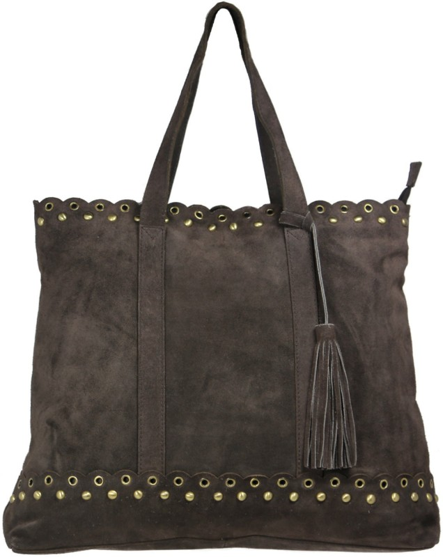 Leatherman Fashion Women's brown leather shopper bag Multipurpose Bag(Brown, 2 L)