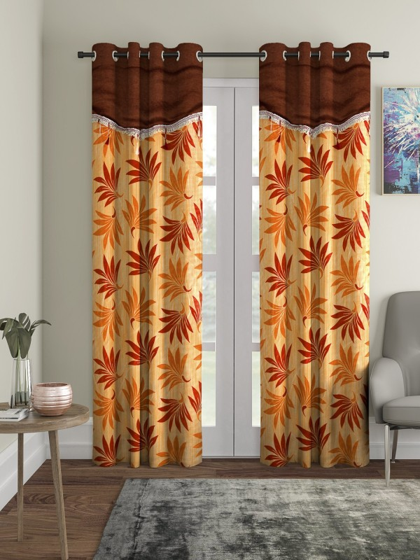 check MRP of orange curtains in living room Cortina