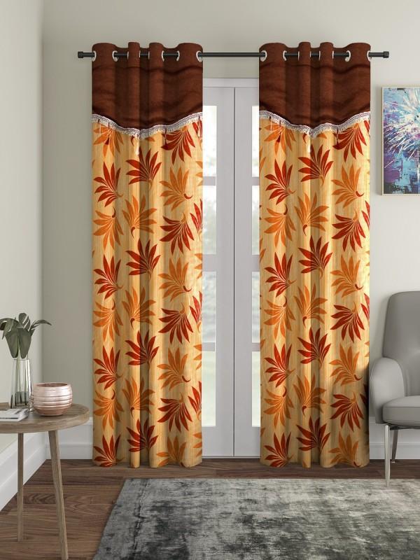 check MRP of orange living room curtains Cortina