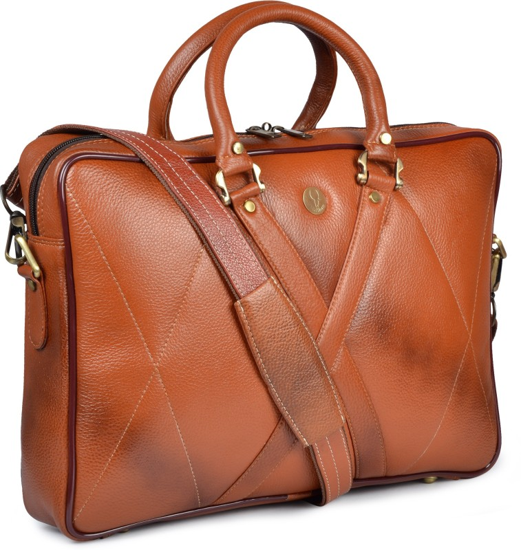 WildHorn 15 inch Laptop Messenger Bag(Tan)
