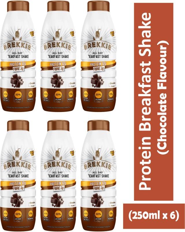 Brekkie Protein Breakfast Shake Chocolate Flavour(6 x 0.25 L)