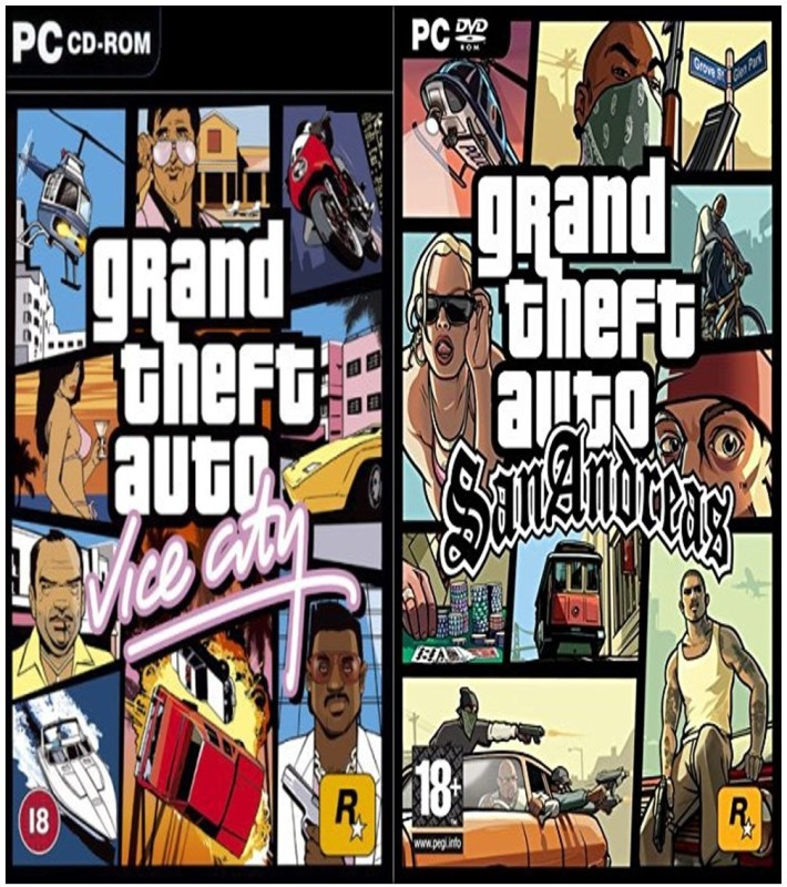 Gta Vice City and Gta SanAndreas COMBO of Two Game (Regular)(Action Adventure, for PC)