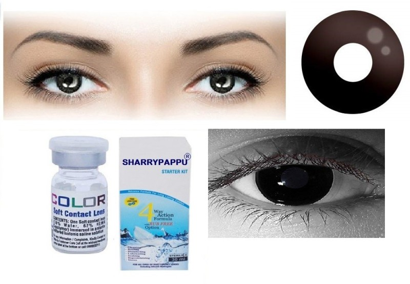 Sharrypappu Yearly Disposable(-5.25, Colored Contact Lenses, Pack of 2)