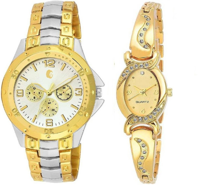 CAMERON 030819 Gold Analog watch For Couple Analog Watch - For Couple