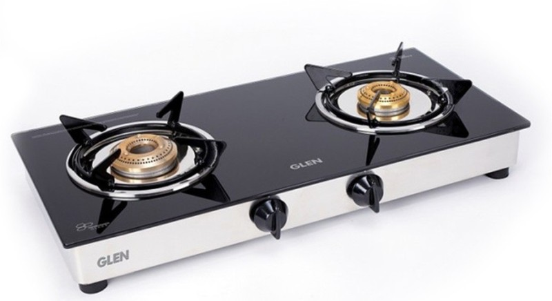 GLEN 1020 GT Junior BB ISI Certified Glass Manual Gas Stove(2 Burners)
