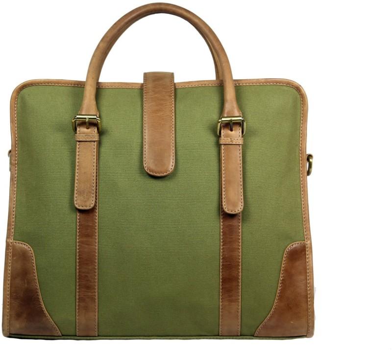Leatherman Fashion Men & Women Tan, Green Messenger Bag