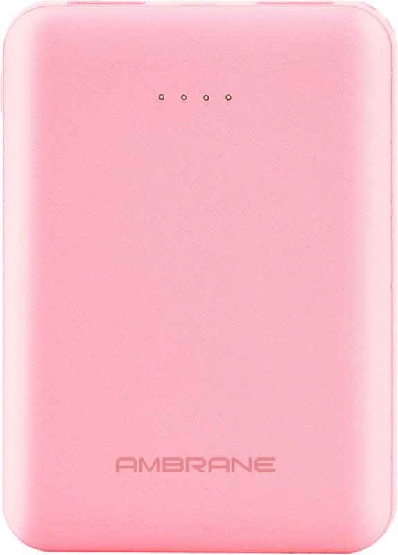 Ambrane 5000 mAh Power Bank (PP-501)(Pink, Lithium Polymer)