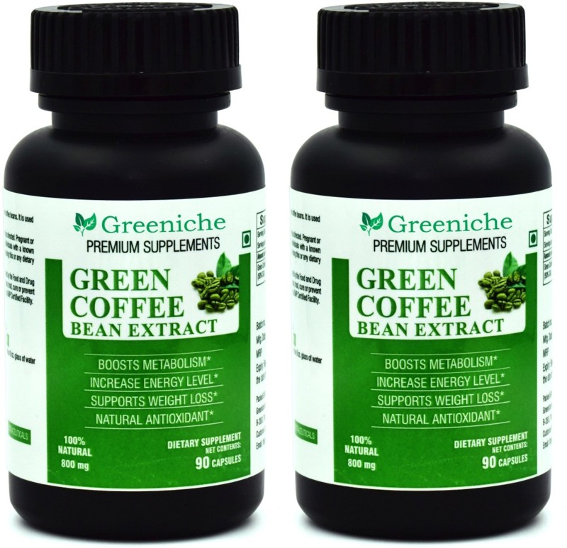 Greeniche Green Coffee Bean Extract 800mg For Weight Loss 180