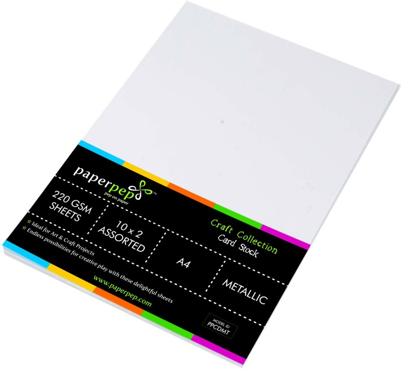 Paper Pep Card Stock Metallic A4 220GSM 30 cm Acrylic Sheet(0.5 cm)