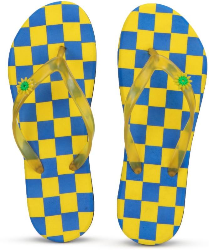 PKKART Womens Comfort Block Stylish Trending yellow slippers with Transparent strap Flip Flops