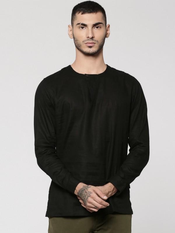 Jack & Jones Men Solid Casual Black Shirt