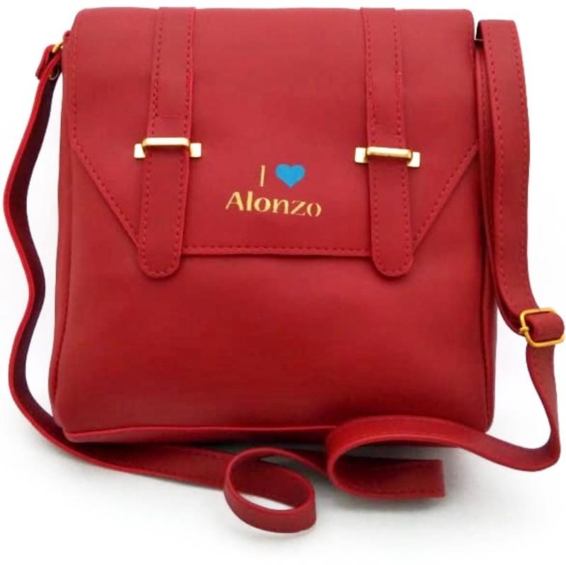 LADY HOUSE Women Maroon Messenger Bag
