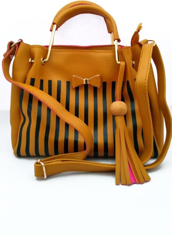 LADY HOUSE Women Khaki Messenger Bag