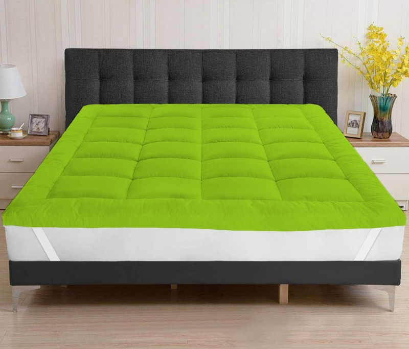 AVI Mattress Topper XL Size Mattress Cover(Green)