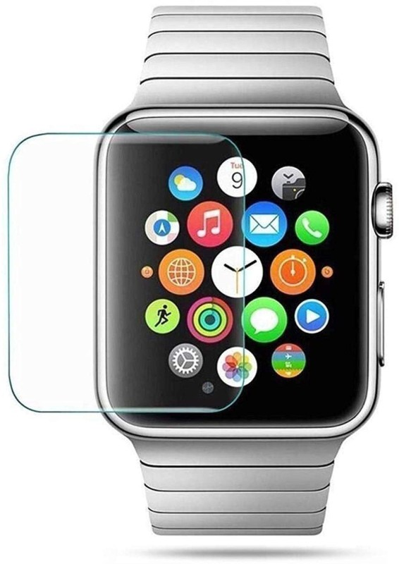 ACUTAS Tempered Glass Guard for Apple Watch Series 3/2/1 (38 MM) Transparent [Only Covers The Flat Area](Pack of 1)