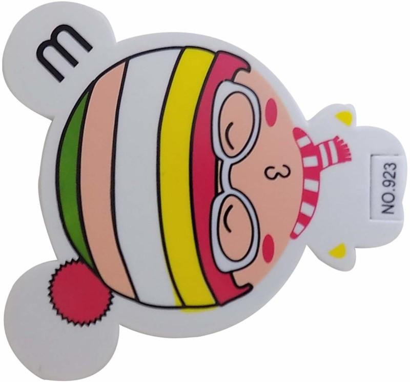 Bueno Cute Cartoon Style Pocket Mirror for Travel and Office Use