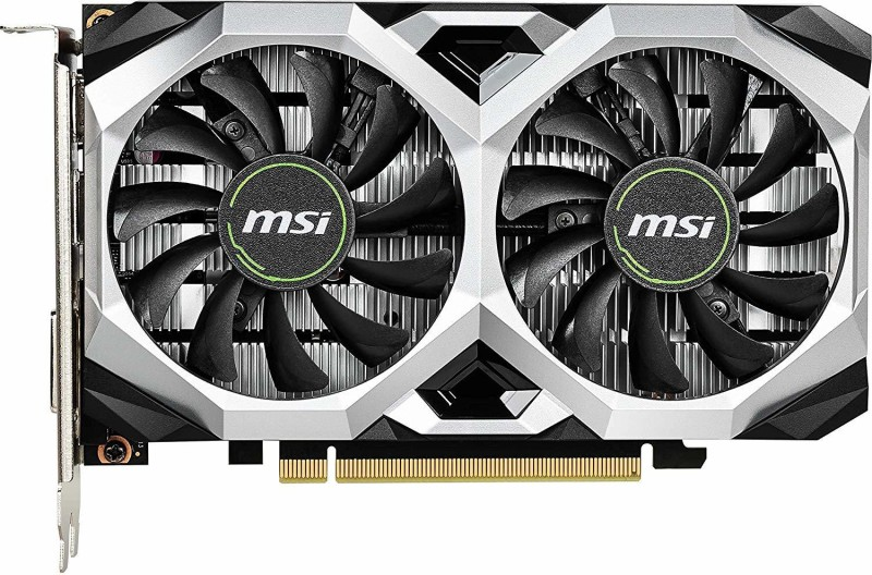 MSI NVIDIA GTX 1650 VETUS XS 4G OC 4 GB GDDR5 Graphics Card(Multicolor)