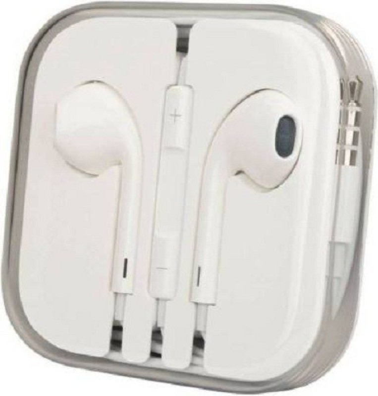 MobFest Headset stereo audio sound with power beats Compatible Wired Headset(White, Wired in the ear)