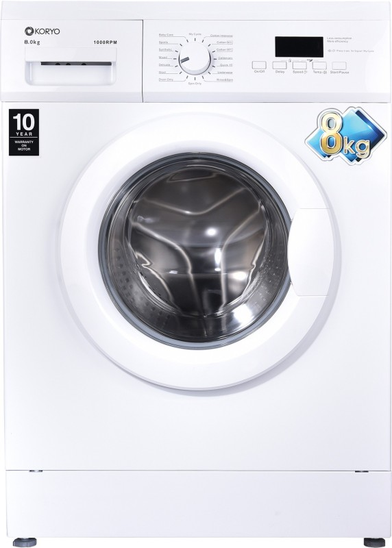 Koryo 8 kg Fully Automatic Front Load with In-built Heater White(KWM1480FL)