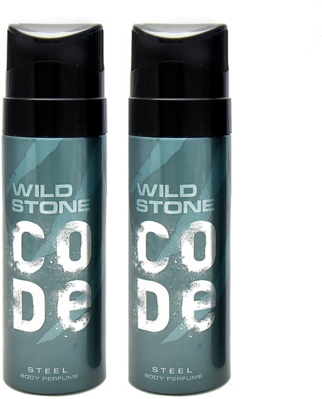 Wild Stone Code Steel Body Perfume set of 2 Perfume Body Spray - For Men(120 ml, Pack of 2)