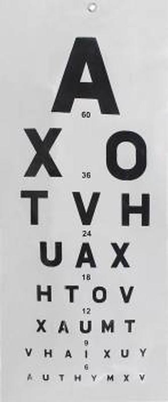 Dr care 090 Vision Test Chart(Snellen)
