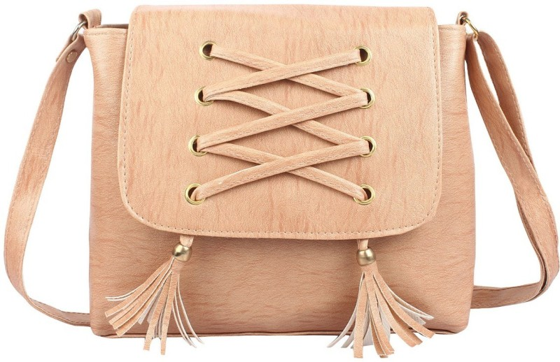 HZB Collection Women Beige Satchel