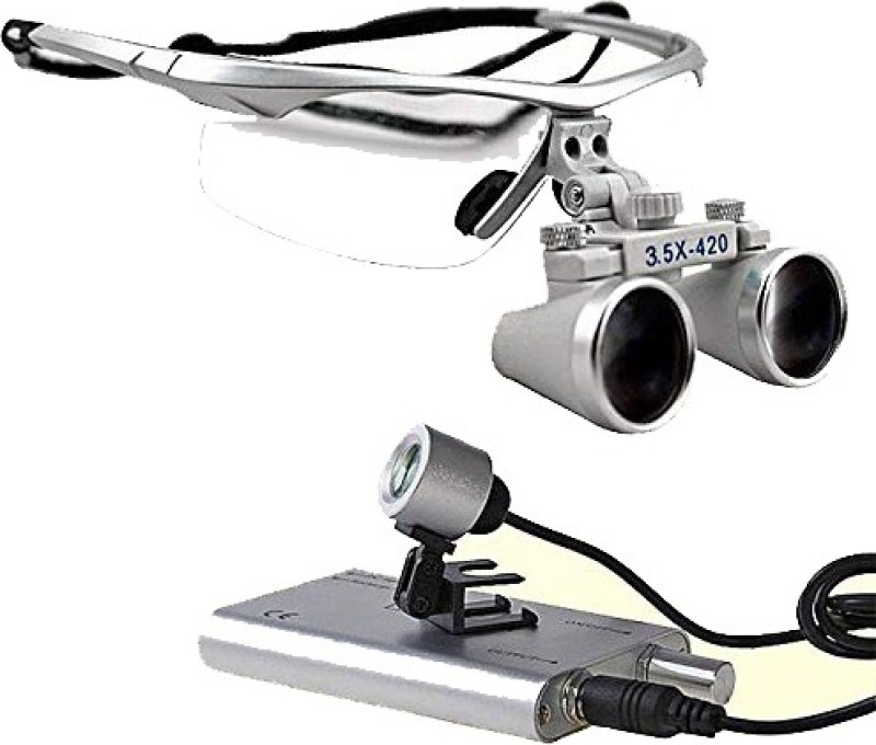 Galaxy Dental Loupes 3.5 X With Plastic Frame (Led Head Light Free) pack_1 Simple Loupe(Dental)