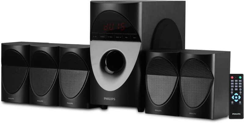 Philips SPA5190B/94 90 W Bluetooth Home Theatre(Black, 5.1 Channel)