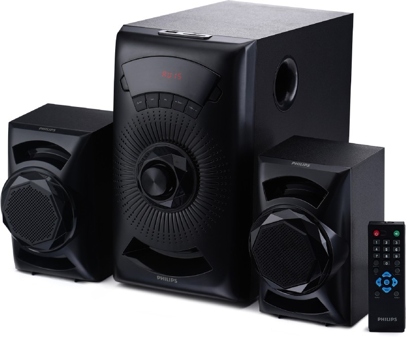 Philips MMS2143B/94 40 W Bluetooth Home Theatre(Black, 2.1 Channel)
