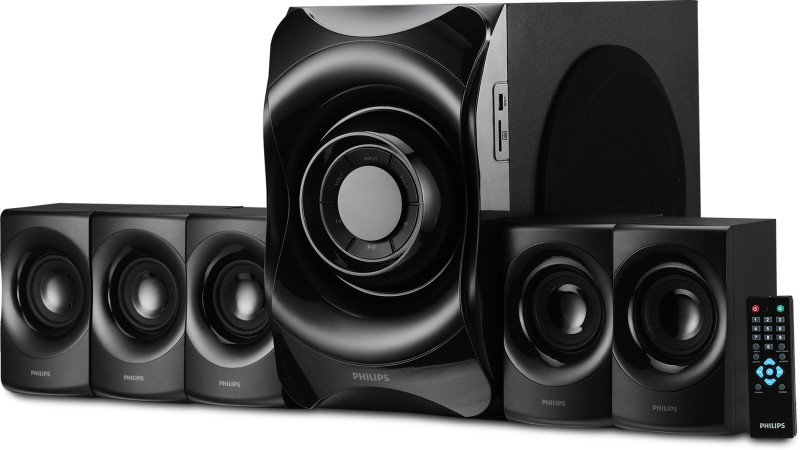 Philips SPA8000B/94 90 W Bluetooth Home Theatre(Black, 5.1 Channel)