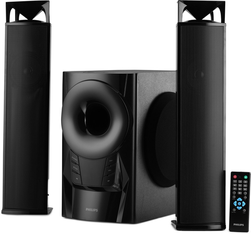 Philips MMS2160B/94 60 W Bluetooth Home Theatre(Black, 2.1 Channel)