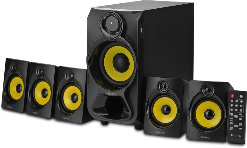 Philips SPA3800B/94 28 W Portable Bluetooth Home Theatre(Black, 5.1 Channel)