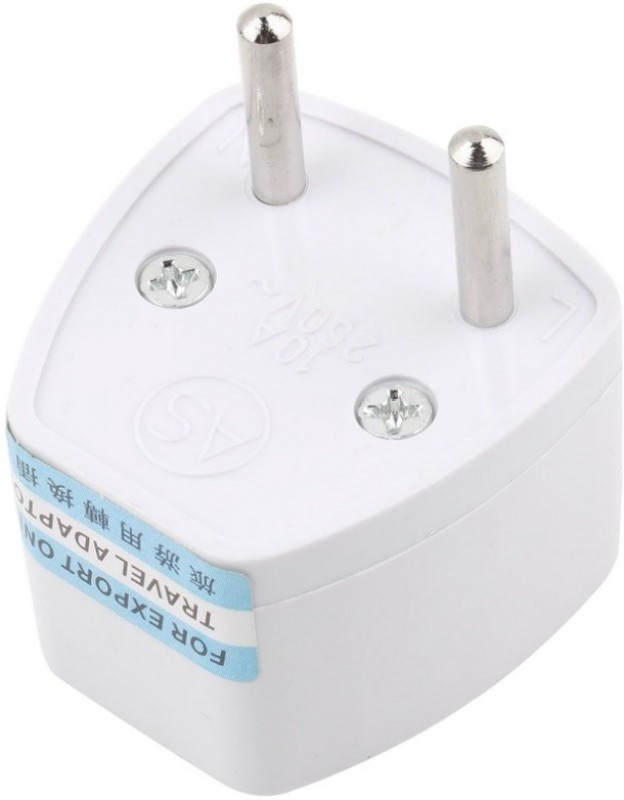 HI-PLASST (3PCS) (Type C) Europe 2 Pin Power Plug Worldwide Adaptor(White)