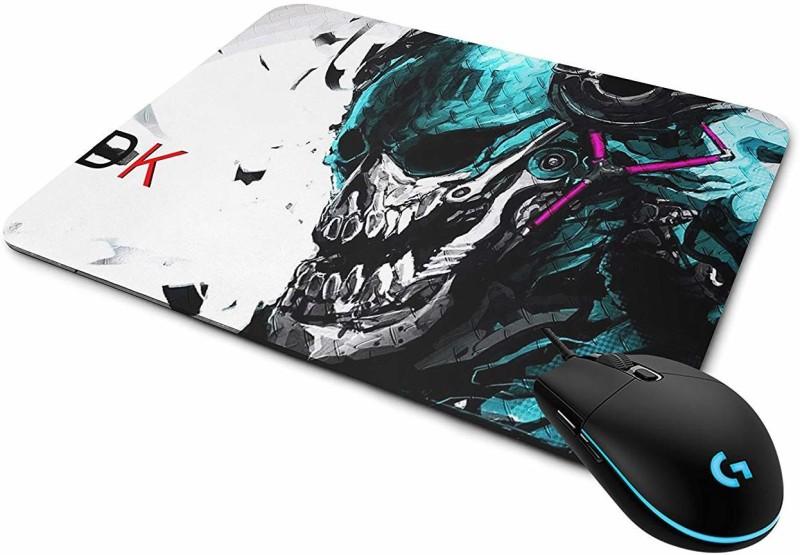 Bigmegamart DJ Skull Mouse Pad, Speed-Type ,Multicolor Mousepad(Multicolor)