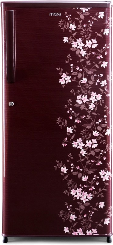 MarQ by Flipkart 180 L Direct Cool Single Door 3 Star Refrigerator(Wine Red, MDCR180PG)