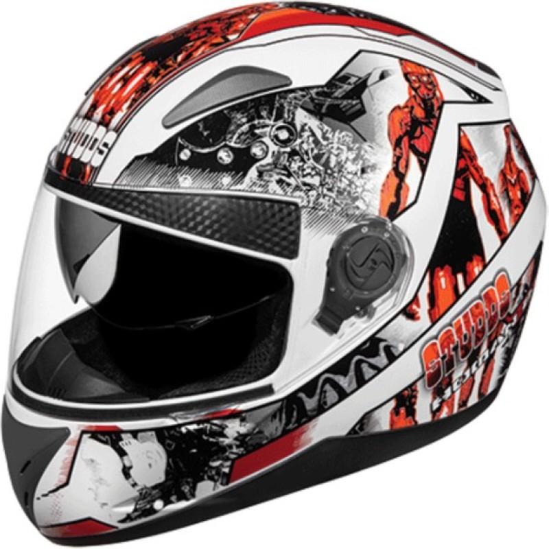 Studds Shifter D7 N10 Motorbike Helmet(White)