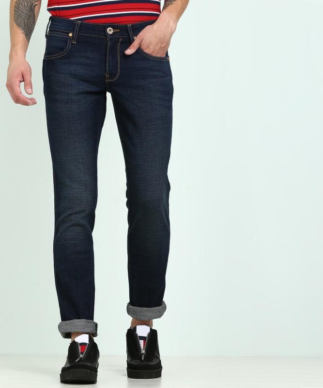 Wrangler Tapered Fit Men Blue Jeans