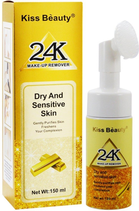 Kiss Beauty Dry And Sensitive Skin 24K Makeup Remover Makeup Remover(150 ml)